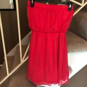 Express Dresses - Strapless hot pink dress